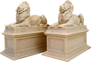 New York Public Library Lions Bookends