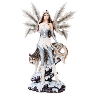Fairy with Wolf Sculpture 25.5