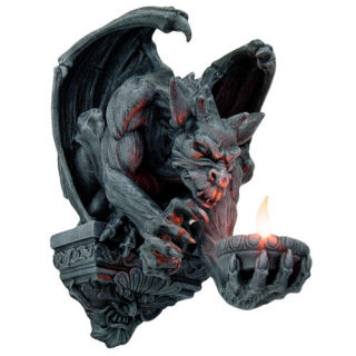 Gargoyle Wall Bracket Candle Holder