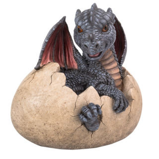 Garden Dragon Hatching From Egg Statue