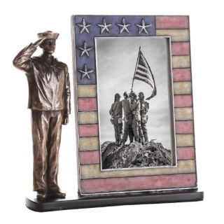 Navy Soldier Picture Frame Sculpture