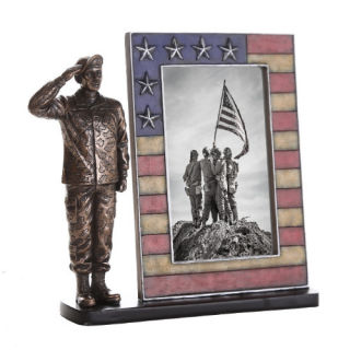 Picture Frame Army Soldier Sculpture