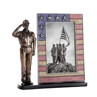 Picture Frame Coast Guard Soldier Sculpture