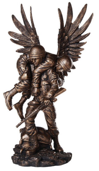 Angel Wounded Warrior Military Statue
