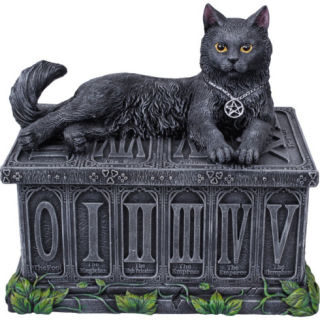 Cat Fortune Tarot Box Holder Sculpture