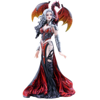 Severeille Witch and Dragon Statue