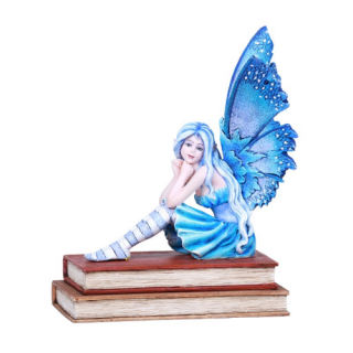 Book Muse Fairy Statue