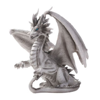 Checkmate Dragon Sculpture Grey