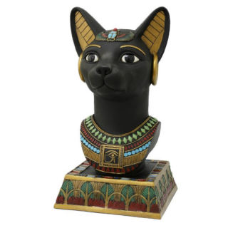 Bastet Bust Sculptural Egyptian Head