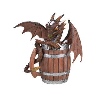 Dark Beer Dragon Sculpture