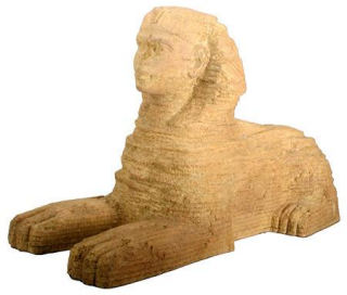 Large Egyptian Sphinx Statue