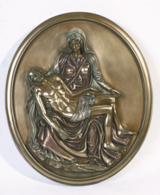 Pieta Wall Plaque Michelangelo