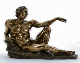 Creation Of Man Adam Sculpture Bronze