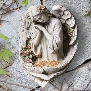 Angel Wall Hanging Bird Feeder Statue