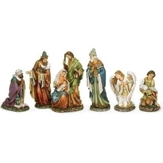 Christmas Nativity Set of Six Figurines Tall