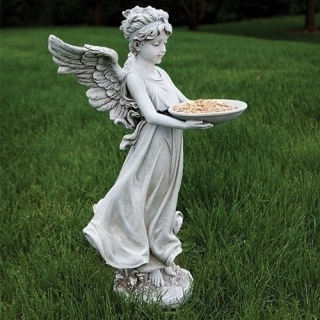 Angel Holding Dish Bird Feeder Statue 18