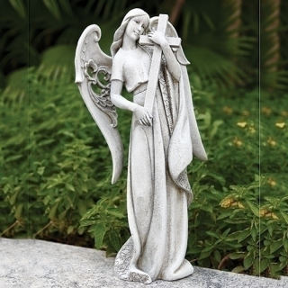 Angel with Cross Memorial Statue 18