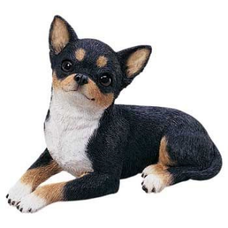 Chihuahua Tri Color Dog Sculpture