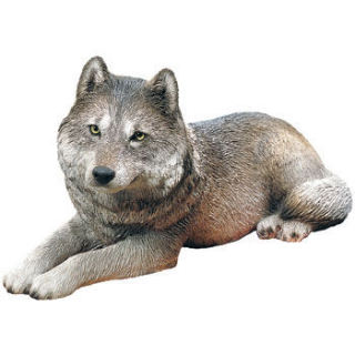 Wolf Gray Sculpture