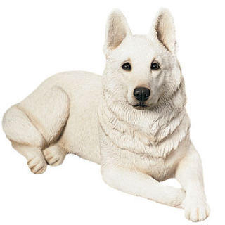 German Shepherd Dog White Sculpture