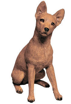 Miniature Pinscher Red Dog Sculpture