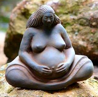 Pregnant Woman Statue Small By Sigrid Herr