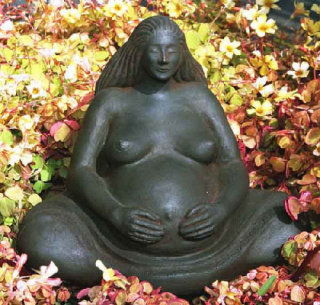 Pregnant Woman Large Statue By Sigrid Herr