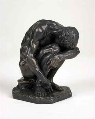 Crouching Man By Bartlett Male Nude