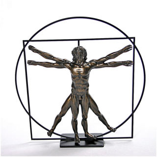 Vitruvian Universal Man Sculpture By DaVinci