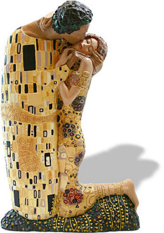 The Kiss Sculpture Large By Gustav Klimt