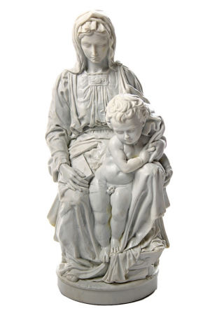 Madonna Of Bruges With Baby Jesus Statue  by Michelangelo