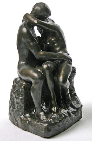 The Kiss By Rodin Sculpture Bronze Finish 6