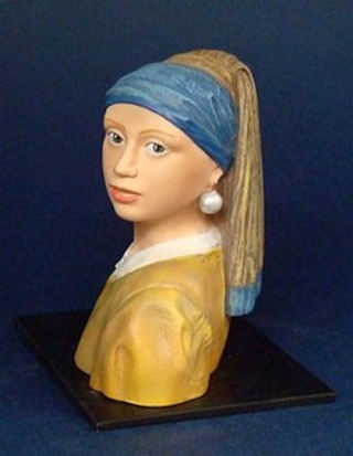Girl With Pearl Earring By Vermeer Bust