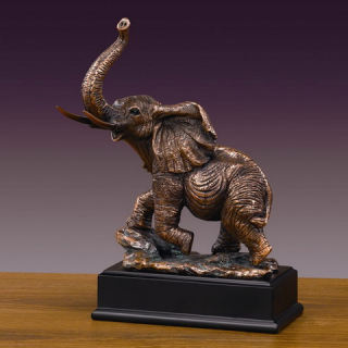 Elephant Trunk Figurine Statue 11.5