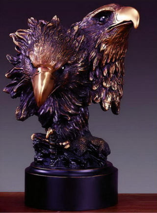 Double Eagle Heads Sculptural Bust 8
