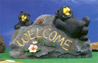 Welcome Bear Duo Statue