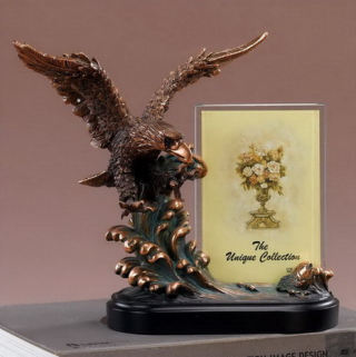 Eagle Picture Frame Sculpture 9.5