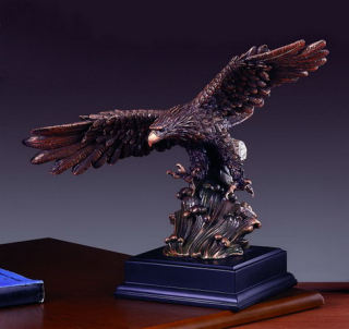 Eagle Statue Soaring Over Wave 12