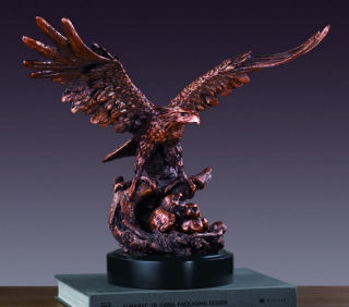 Eagle With Two Babies Sculpture 14.5