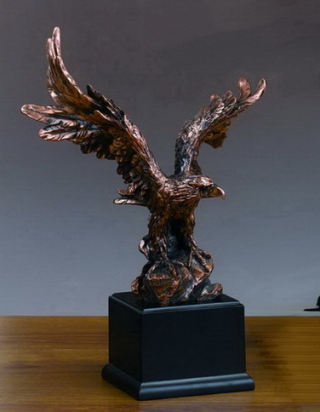 Eagle Statuette Wings Spread 19.5