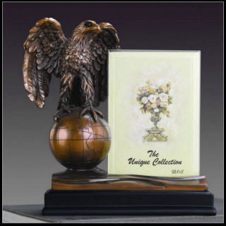 Eagle On Globe Picture Frame Sculptural