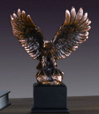 Eagle Sculpture Wings Open 9.5
