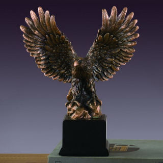 Eagle Sculpture Wings Open 6.5