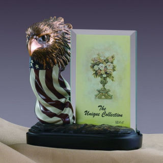 Eagle Head and Flag Picture Frame Statue