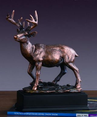 White Tail Deer Sculpture 7.5