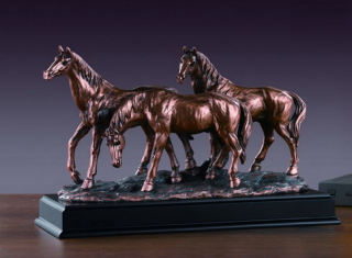 Three Horses Sculpture 15