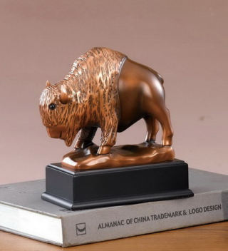 Buffalo Stylized Statue Bison Sculpture 7