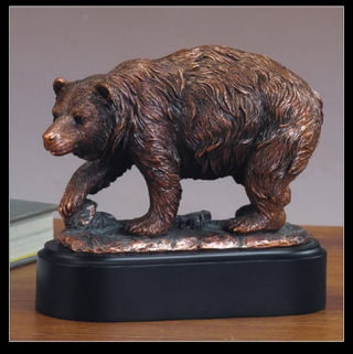 Bear Wildlife Scene Statue 6