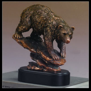 Bear On Rock Sculpture 9.5