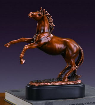 Rearing Horse Statuette 10